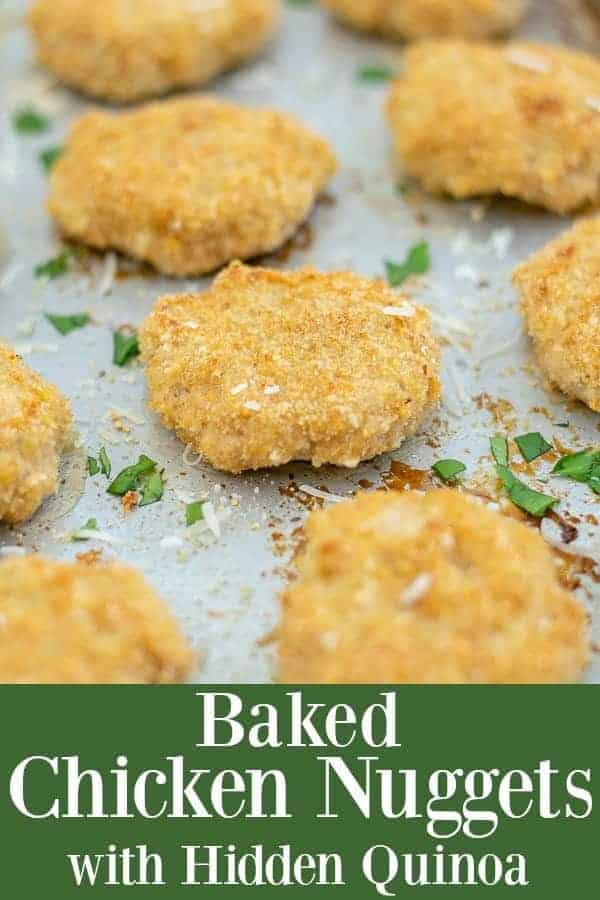 Baked Chicken Nuggets with Hidden Quinoa perfect for a weeknight dinner