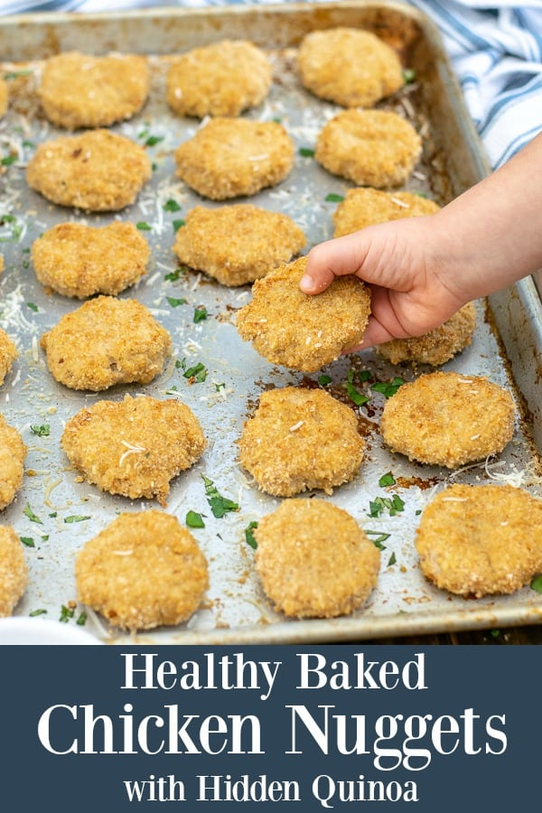 Healthy Oven Baked Chicken Nuggets with Hidden Quinoa - perfect for the whole family