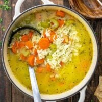 Simple Vegetable Rice Soup