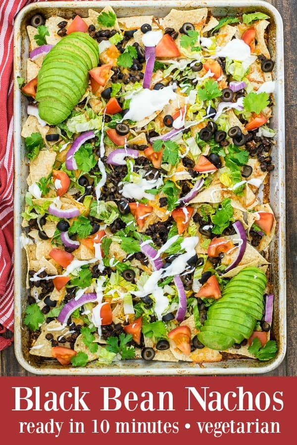 Black Bean Nachos Recipe - ready to eat in 10 minutes