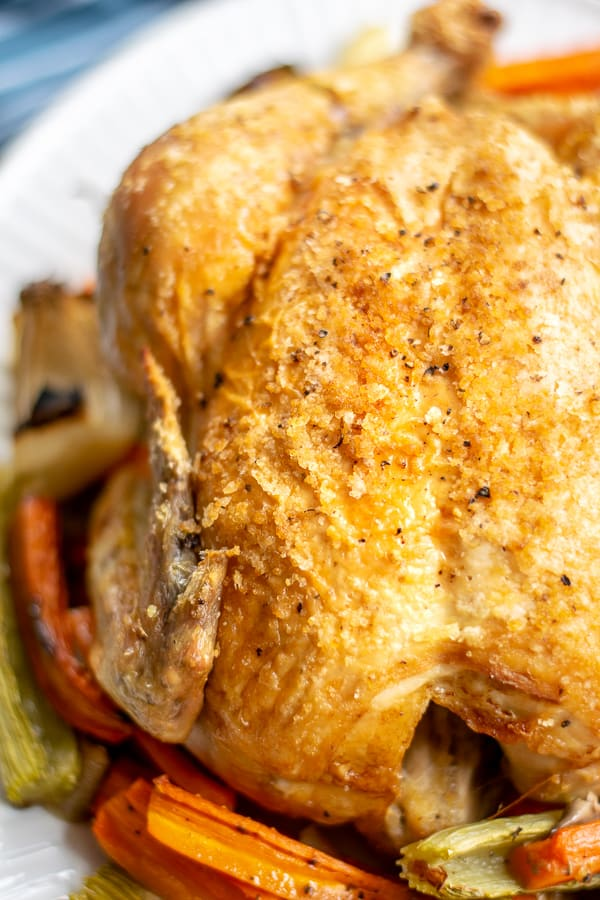 close up of roast chicken breast