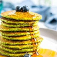Healthy Spinach Oatmeal Pancakes