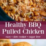 healthy barbecue chicken pinterest pin
