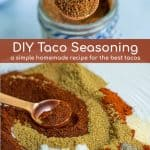 spices being mixed together to creat this simple homemade taco seasoning