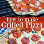 how to make grilled pizza on a gas grill