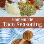 spices used to make the homemade taco seasoning simple