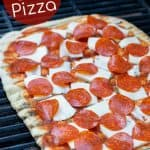 pepperoni pizza on the grill
