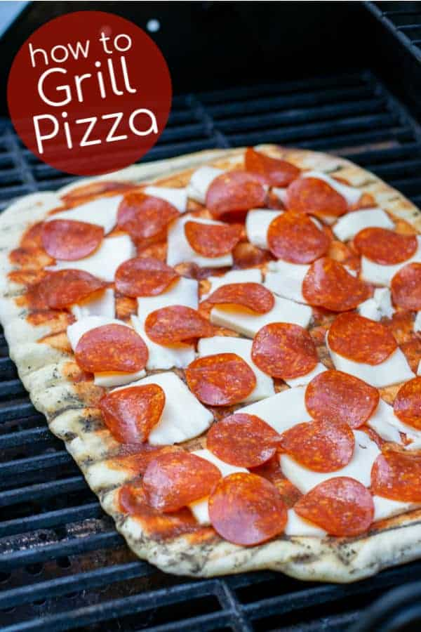 A whole post on how to Grill Pizza! How to cook pizza on the grill without a stone, what you need and how to get the best homemade pizza. Perfect for a summer evening relaxing with friends and family! Learn how to cook pizza on the grill without a stone. theschmidtywife.com #grilledpizza #dough #recipes #easy #toppings #pizza #howto #homemade
