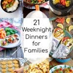 a collage of the best weeknight dinner recipes