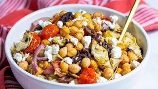 Healthy Grilled Chickpea Salad with Feta