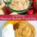 4 ingredient healthy fruit dip in a bowl