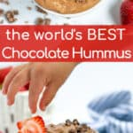 the best chocolate hummus made with great northern beans for the yummiest dessert hummus
