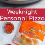 weeknight personal pizza made with only 4 easy ingredients that your kids with love