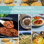 Pinterest Pin for A round up of dinners that preschooler's might like.