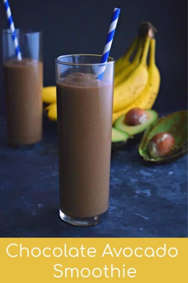 This Chocolate Avocado Smoothie is full of super foods and tastes delicious! Dairy free and super chocolatey! #healthy #cocoapowder #dairyfree #recipe #honey #unsweetenedcocoa #smoothie