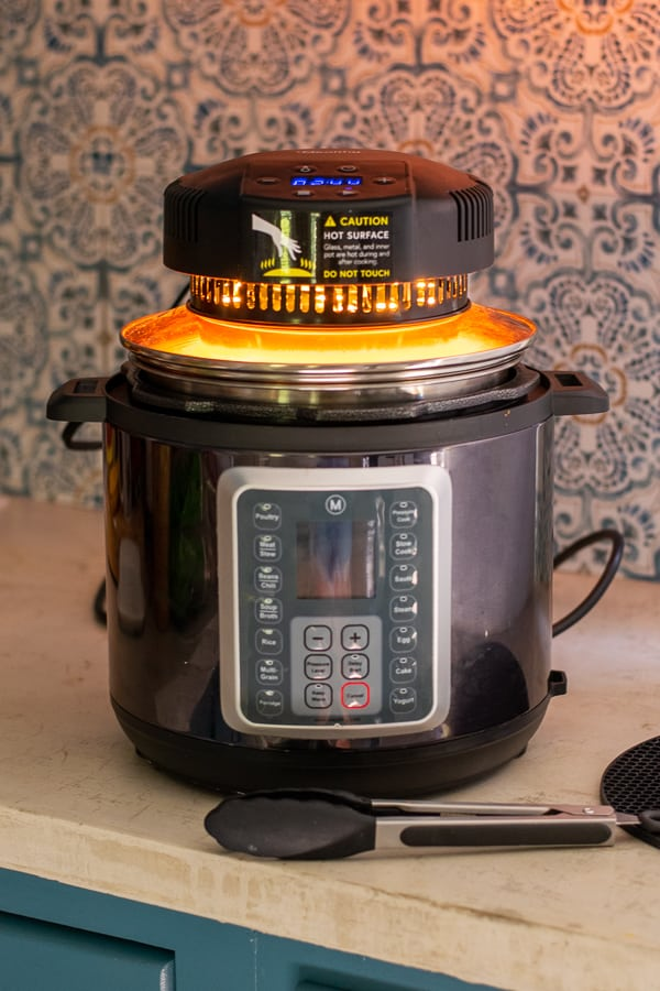 Crisplid review about turning the multipot into an air fryer.
