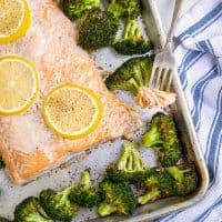 Baked Salmon and Broccoli