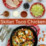 taco chicken breasts made on the stovetop for a quick and healthy dinner