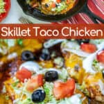 taco chicken breast in a skillet