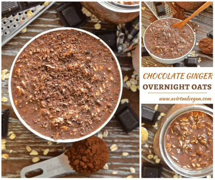 Ginger Chocolate Overnight Oats