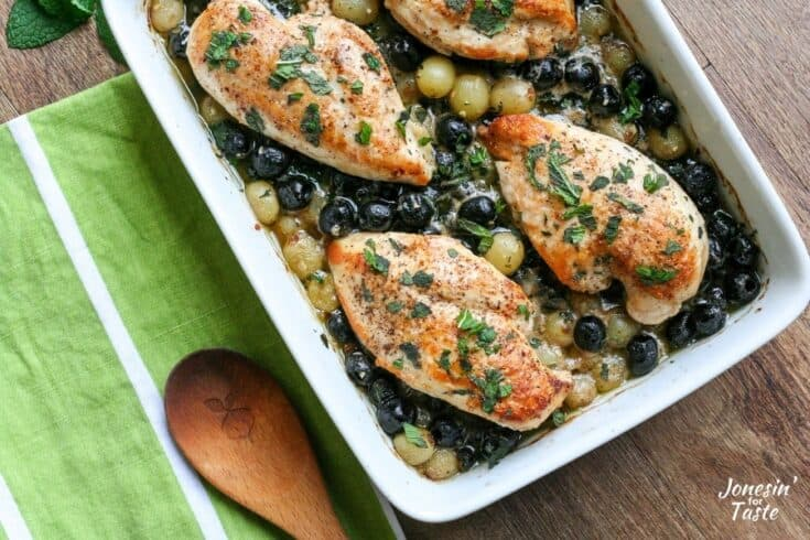 Mediterranean Chicken with Olives and Grapes