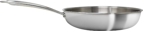 side view on frying pan