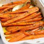 spoon scooping brown sugar carrots