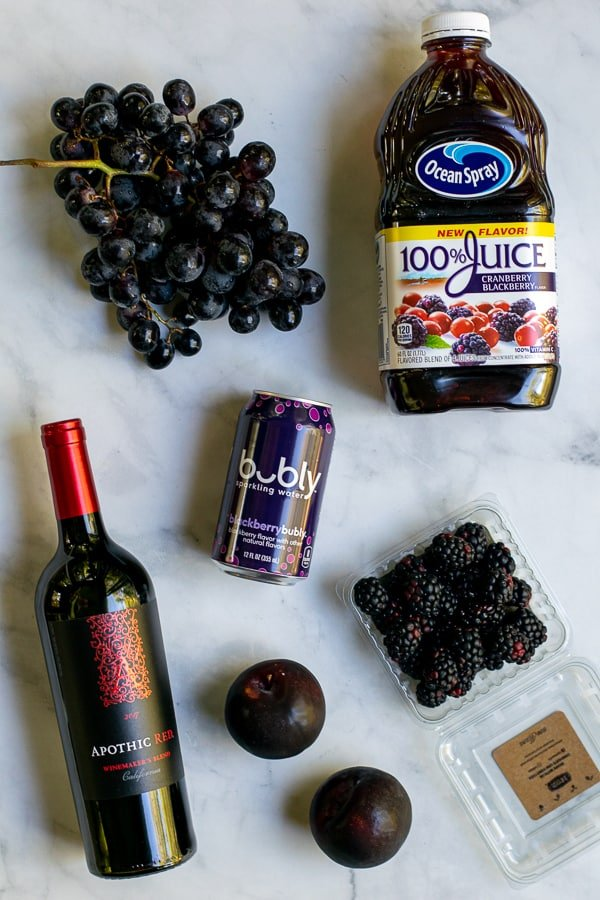 ingredients need to make the black Halloween sangria recipe