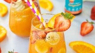 Kid's Healthy Orange Juice Mocktail