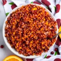 5 Minute Cranberry Orange Relish