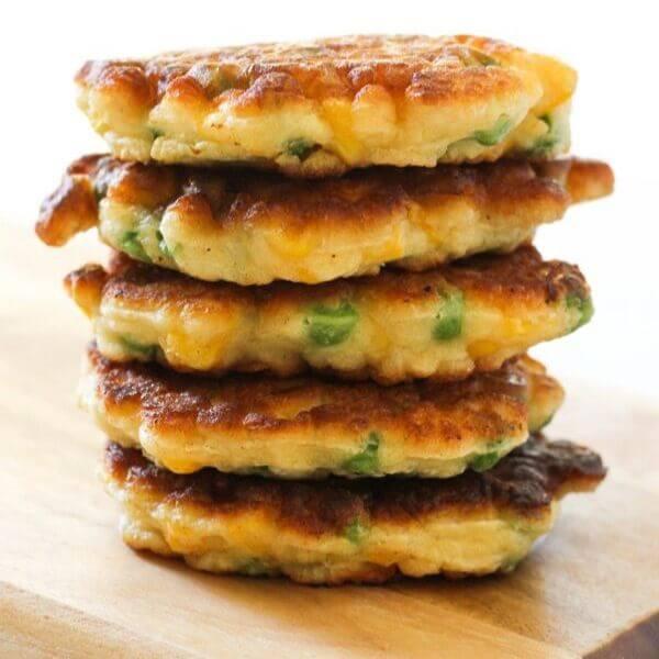 Pea & Sweet Corn Fritters Recipe