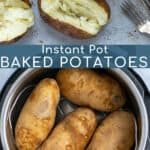 how to make baked potatoes in the pressure cooker