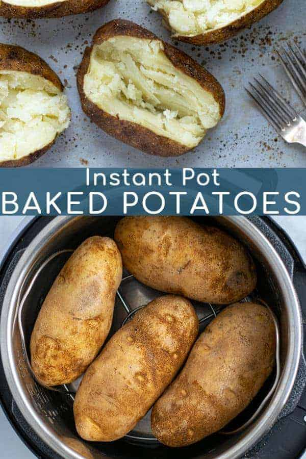 How to make the best Instant Pot Baked Potatoes, Plus How To Get Crispy Skins in just a few extra minutes! This Pressure Cooker Baked Potato recipe is sure to be one you will use over and over!