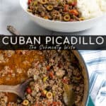 Cuban picadillo made with ground beef and ground pork
