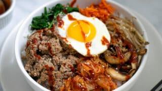 Easy Korean Bibimbap Recipe with Ground Turkey