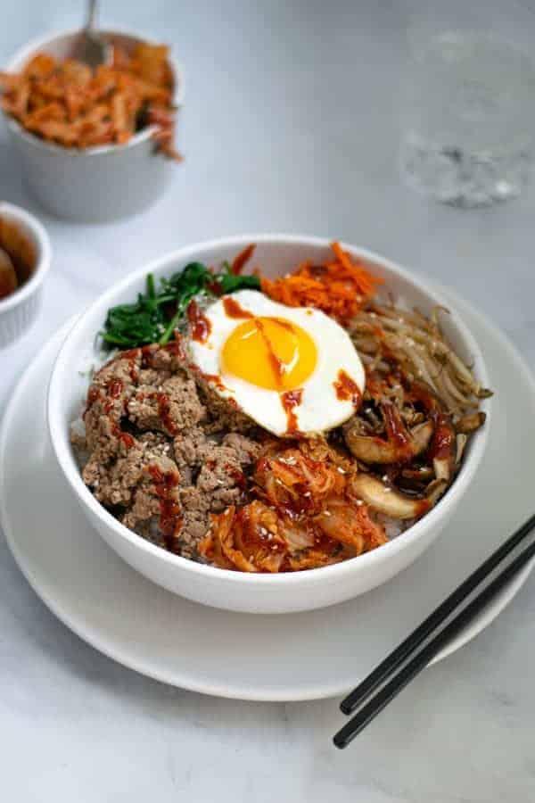 Korean Bibimbap Recipe With Ground Turkey The Schmidty Wife