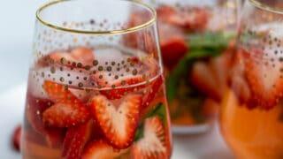 Rosé Strawberry Sangria Recipe