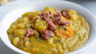 Easy Pressure Cooker Split Pea Soup with Ham