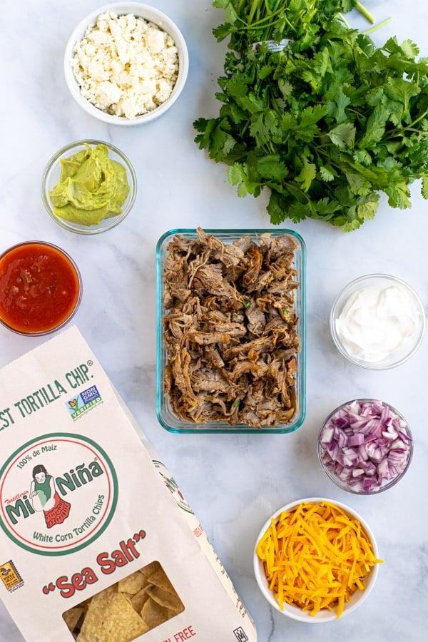 ingredients need to make leftover carnitas nachos