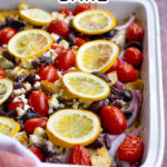 Pinterest Pin for Greek Chicken Bake