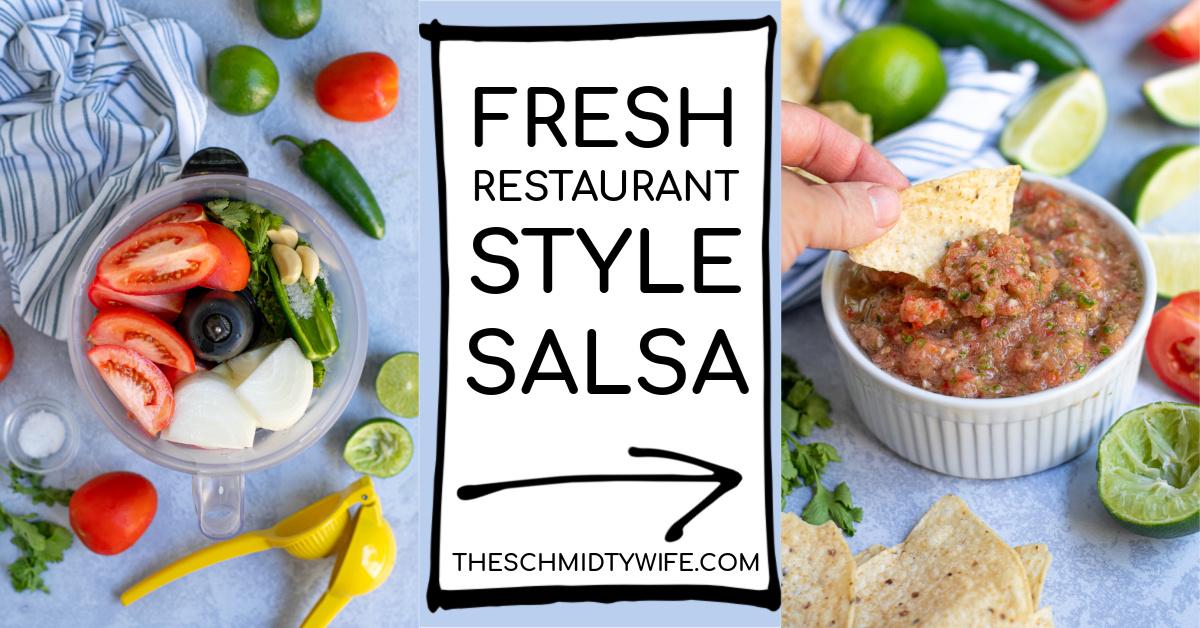 Fresh Restaurant Style Salsa The Schmidty Wife