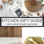 Collage of gift images for a Kitchen Gift Guide Pinterest Pin.